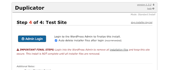 duplicator-admin-login-to-access-wordpress-site-on-live-server