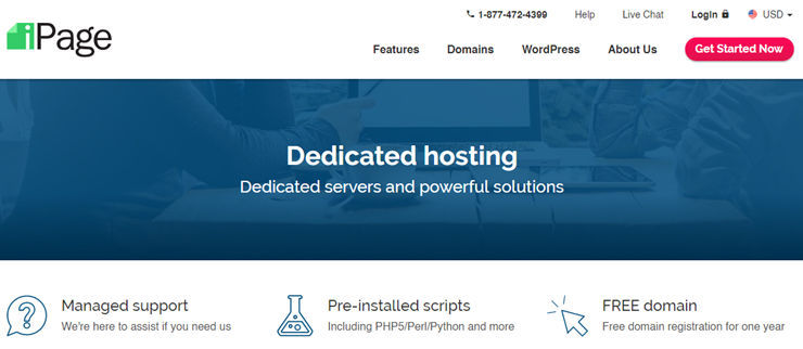 ipage dedicated hosting review