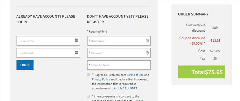 Register a new account