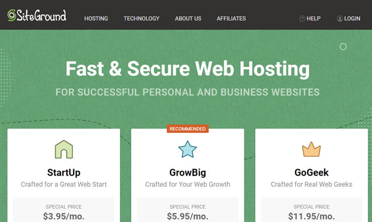siteground cheap hosting