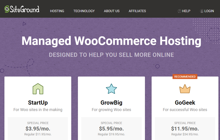 siteground woocommerce hosting review