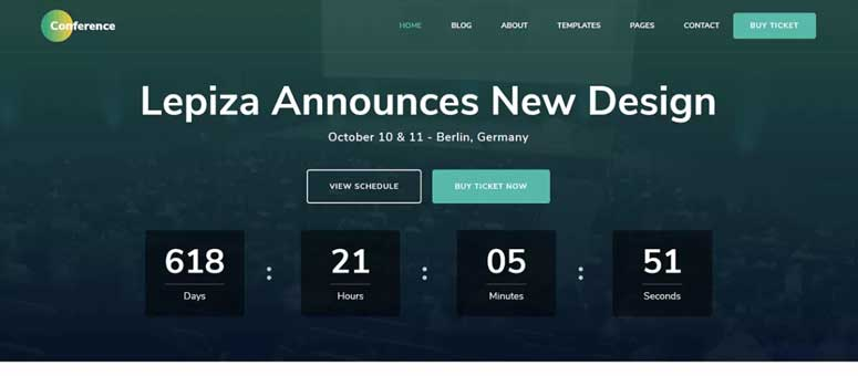 26 Best WordPress Themes for Events & Conferences (2019)
