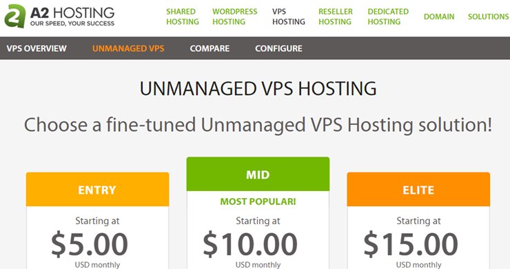 a2 hosting vps hosting review