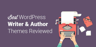 best wordpress writer and author themes