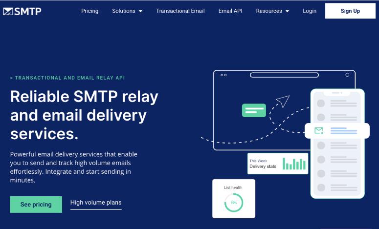 smtp homepage