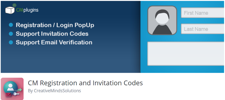 user login plugin, registration plugin,CM Registration and Invitation code