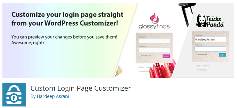 Custom LoginPage Customizer