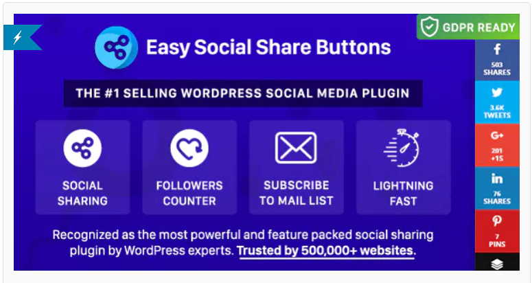 Easy Social Share buttons, Pinterest Plugins