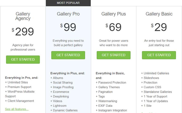 Envira Gallery price