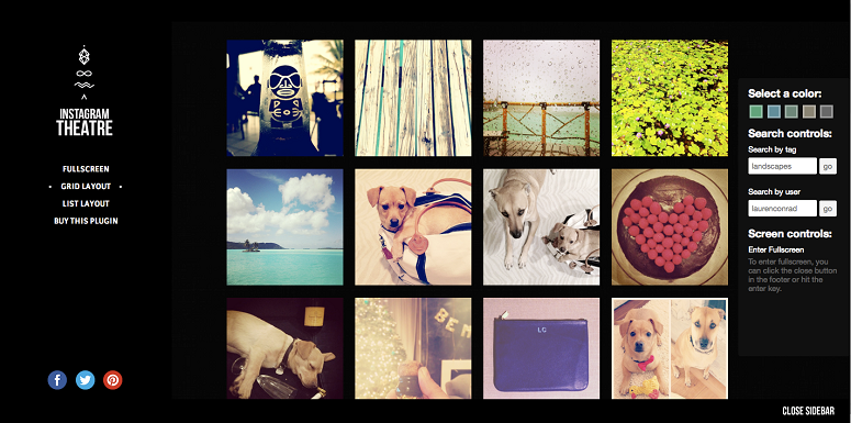 Instagram Plugins, Instagram Theatre
