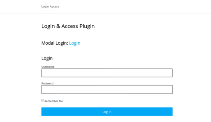 Login & Access wordpress plugin