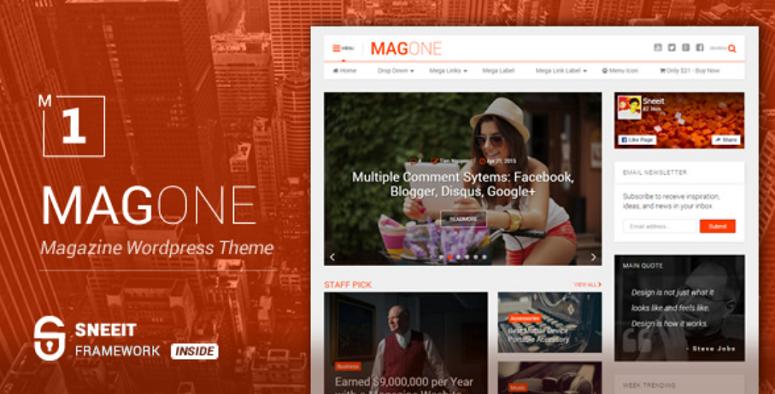 Magone magazine theme