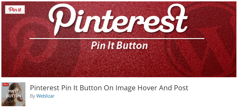 Pinterest Pin It Plugin