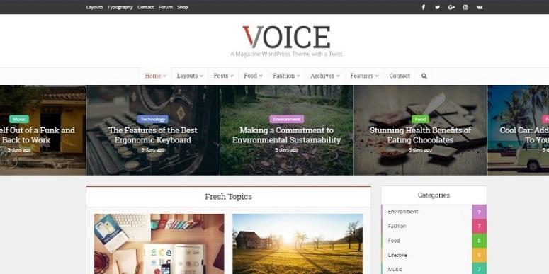 Voice, magazine theme, magazine wordpress magazine