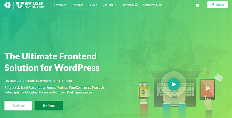 WP User Front end Pro, user-generated content plugin