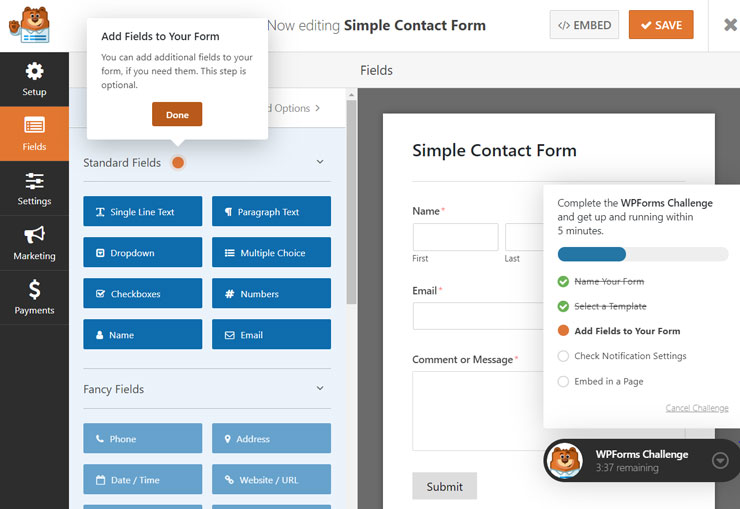 amp contact page builder