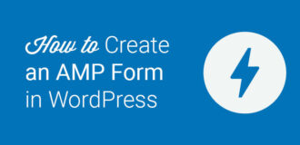 how to create an amp form in WordPress