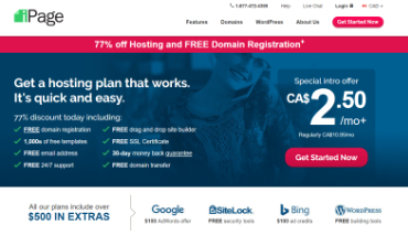 ipage-web-hosting-canada