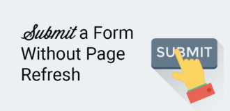submit a form without page refresh