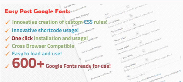 Easy Post Google Fonts
