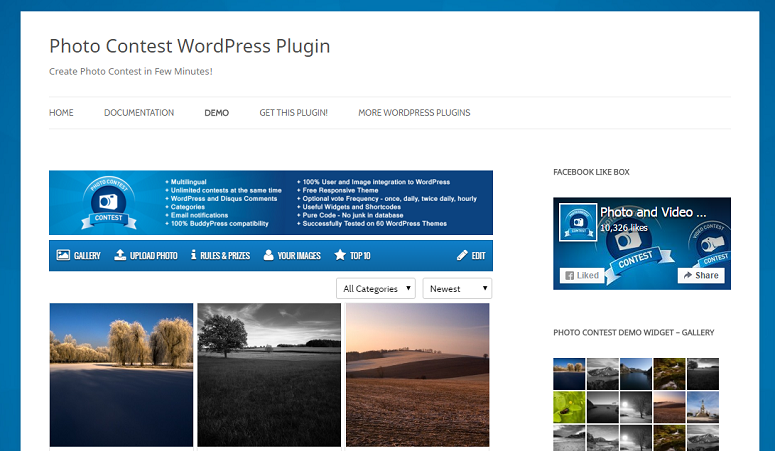 Photo contest WP Plugin, contest plugins, giveaway plugins