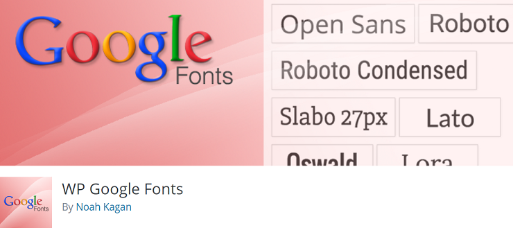 WP Google Fonts, typography plugins