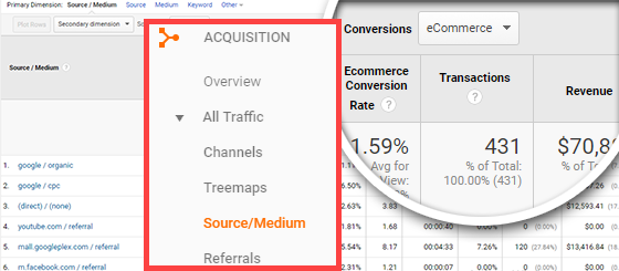 google analytics wordpress traffic source