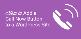 how to add a call now button to a wordpress site