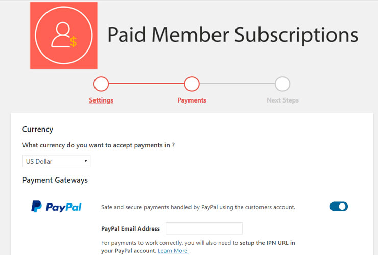paid member subscriptions review payment