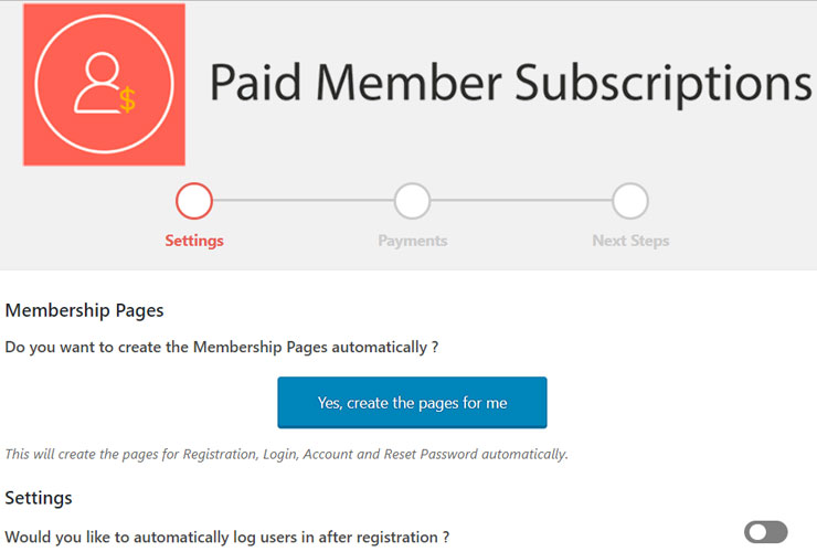 paid member subscriptions review settings