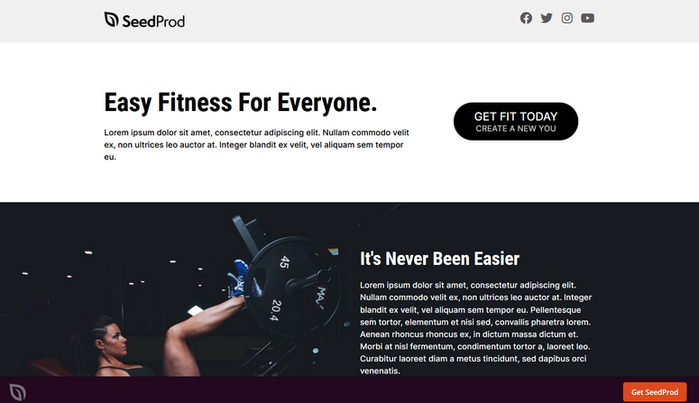 seedprod fitness template