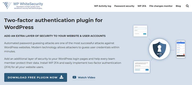 wp 2fa security authentication plugin