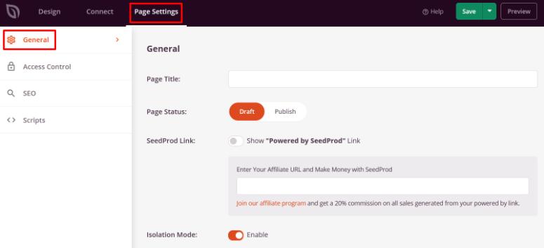 configure maintenance mode general settings