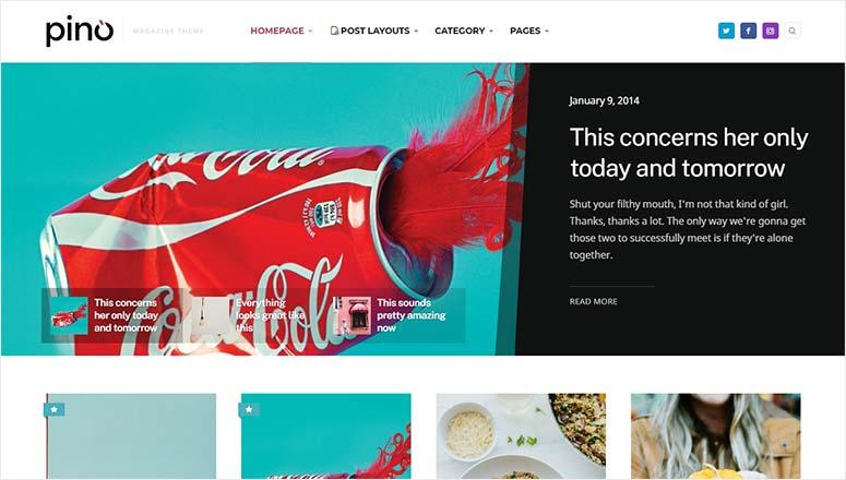 Pino WordPress Magazine Theme