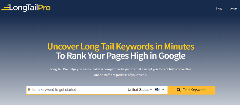 keyword research tool, longtail pro