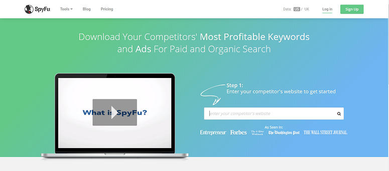 SpyFu, keyword research tool, keyword finder
