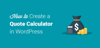 how to create a quote calculator in wordpress
