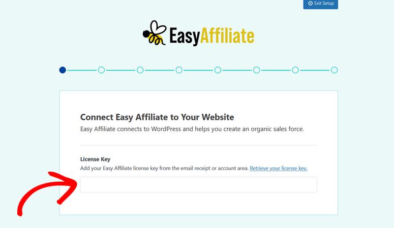 enter easy affiliate license key