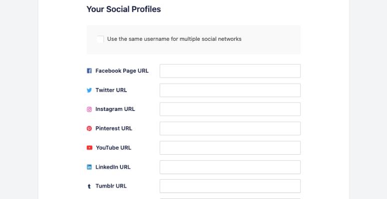 Social profiles aioseo