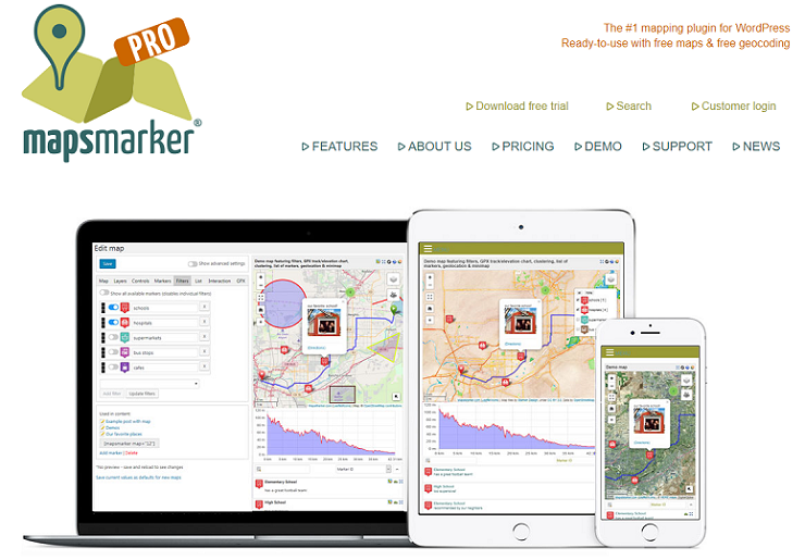 Maps Marker Pro, google maps plugin