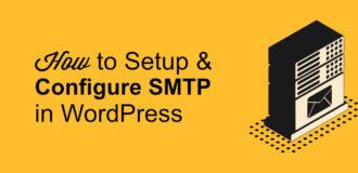 setup and configure smtp, wp mail smtp