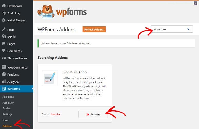 WPForms Signature Addons
