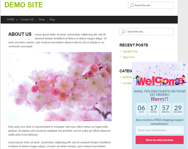 greeting your users with welcome message, welcome wordpress users, greet your wordpress users