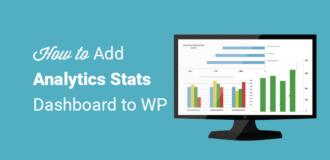 how to add analytics stats dashboard to wordpress