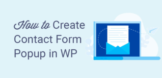 how to create a contact form popup in wordpress