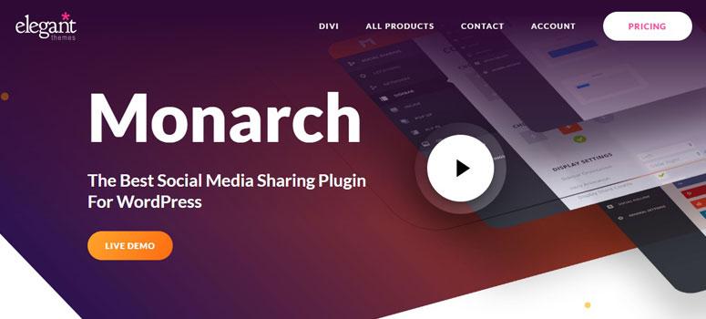 Monarch, facebook plugin, social share plugins