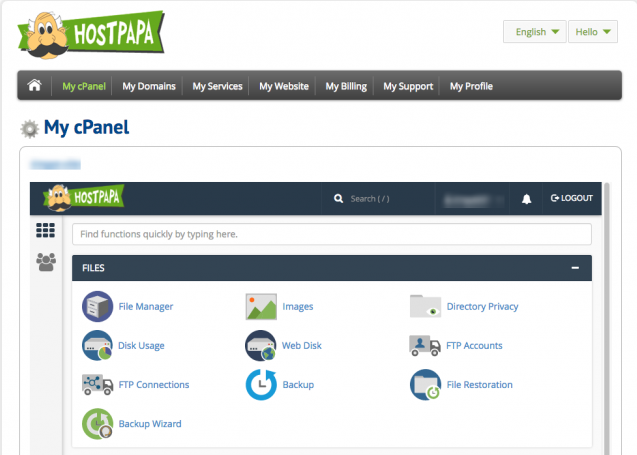 HostPapa cPanel, hostpapa review