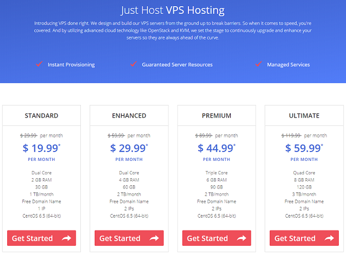 just host, vps hosting