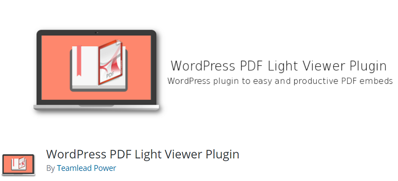 WordPress PDF Light Viewer Plugin – WordPress plugin
