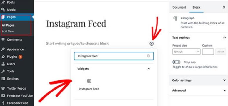 add smash balloon instagram widget